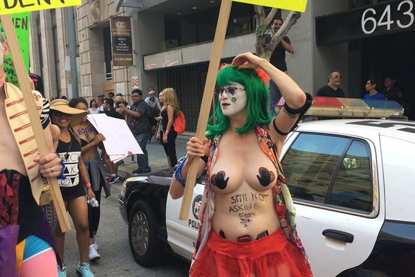 SlutWalk protester