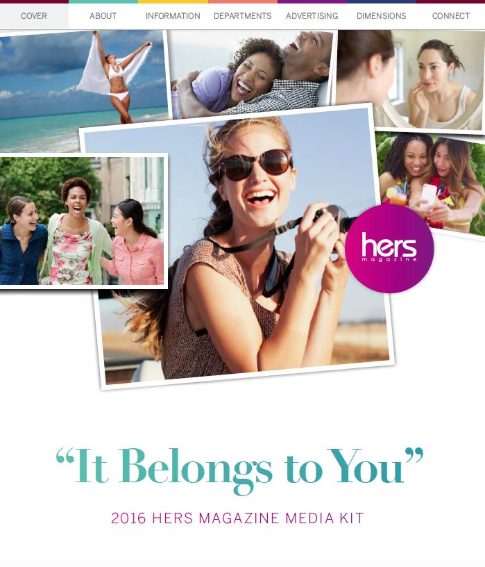 Hers magazine media kit 2018