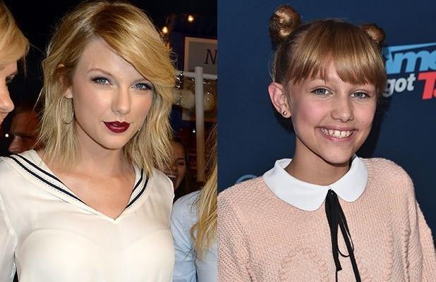 Taylor Swift and Grace VanderWaal