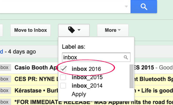 Clean out your inbox