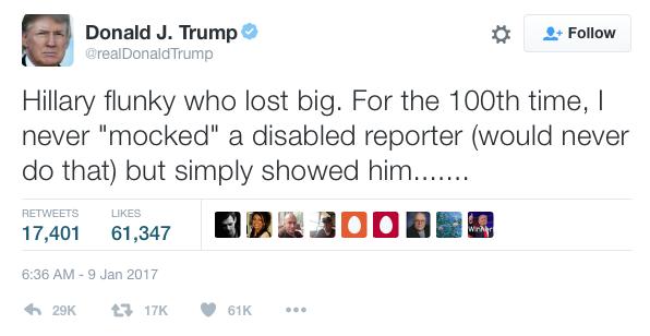 Trump's Meryl Streep Tweet