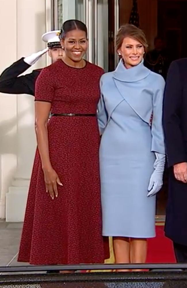 Michelle Welcomes Melania Trump