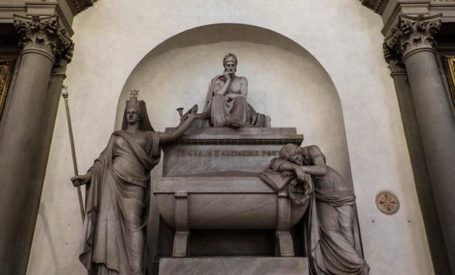 The Basilica Santa Croce wall sculpture