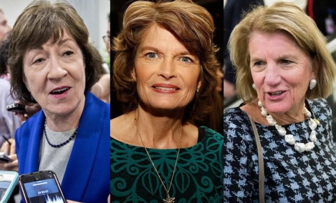 Senators Collins, Murkowski, and Capito