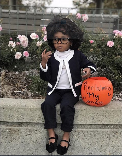 Kids dressed as Congresswoman Maxine Waters