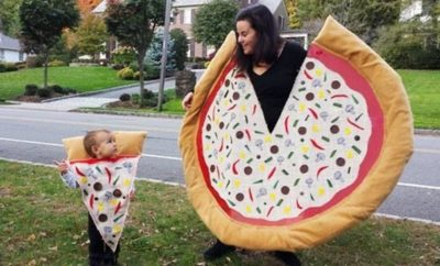 Halloween costume as pizza