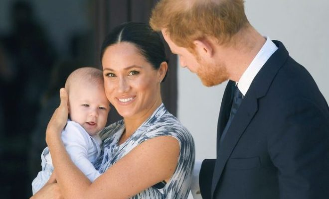 Meghan Markle, Prince Harry and Baby Archie in South Africa.