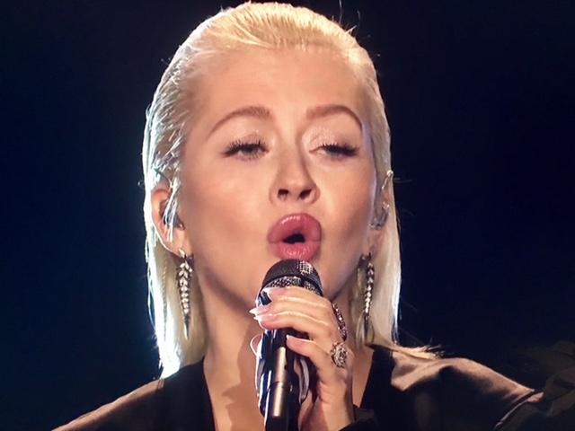 Christina Aguilera performs Whitney