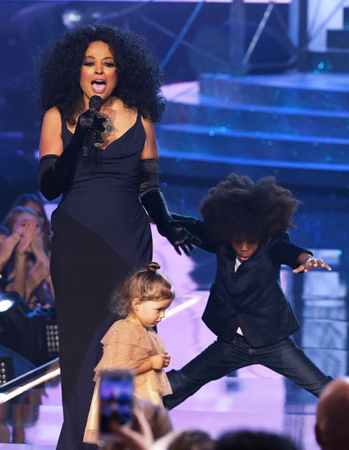 Diana Ross with grandson
