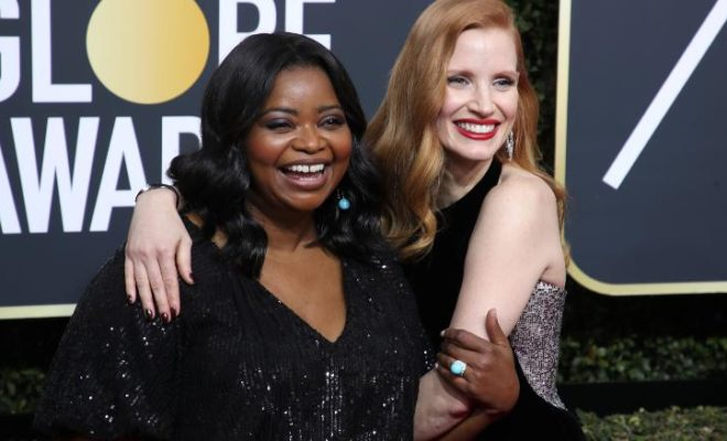 Octavia Spencer, Jessica Chastain, Oscars, Golden Globes, #MeToo, #Time's Up, Favored Nations, Equal Pay