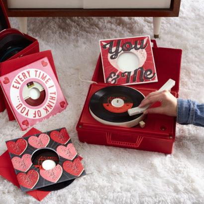 hallmark vinyl Valentine's Day cards