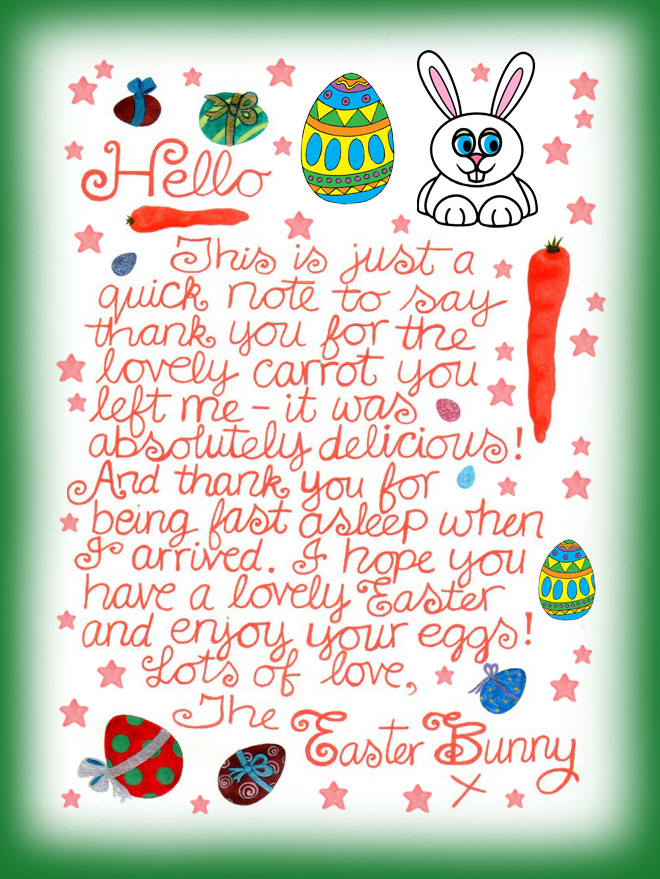 photograph relating to Easter Bunny Letterhead named Create this Easter Memorable for Your Kids HERS Journal