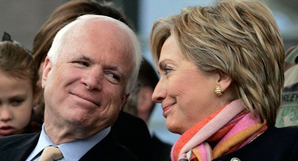 Hillary Clinton and John McCain