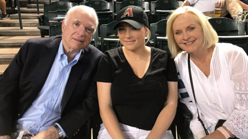 John McCain with wife and daughter