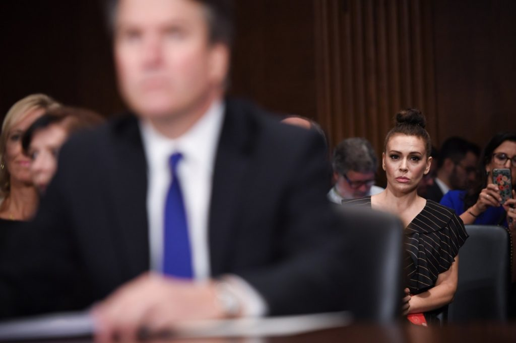 Alyssa Milano at Ford hearing
