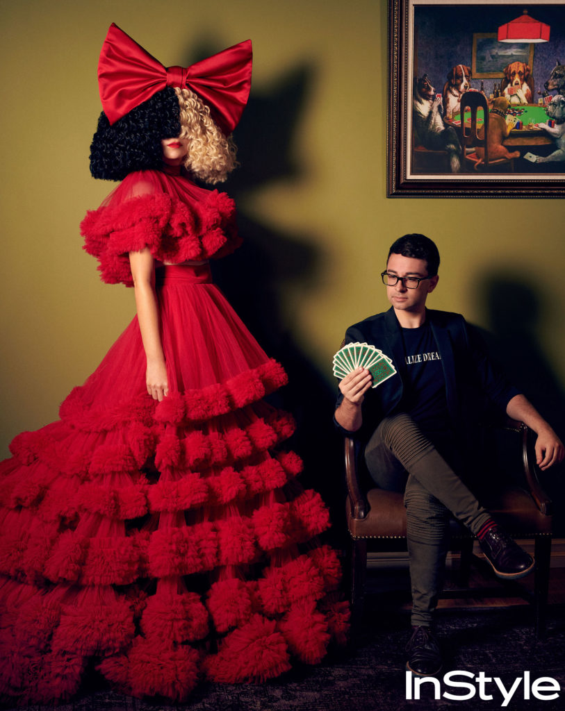 Sia with Christian Siriano
