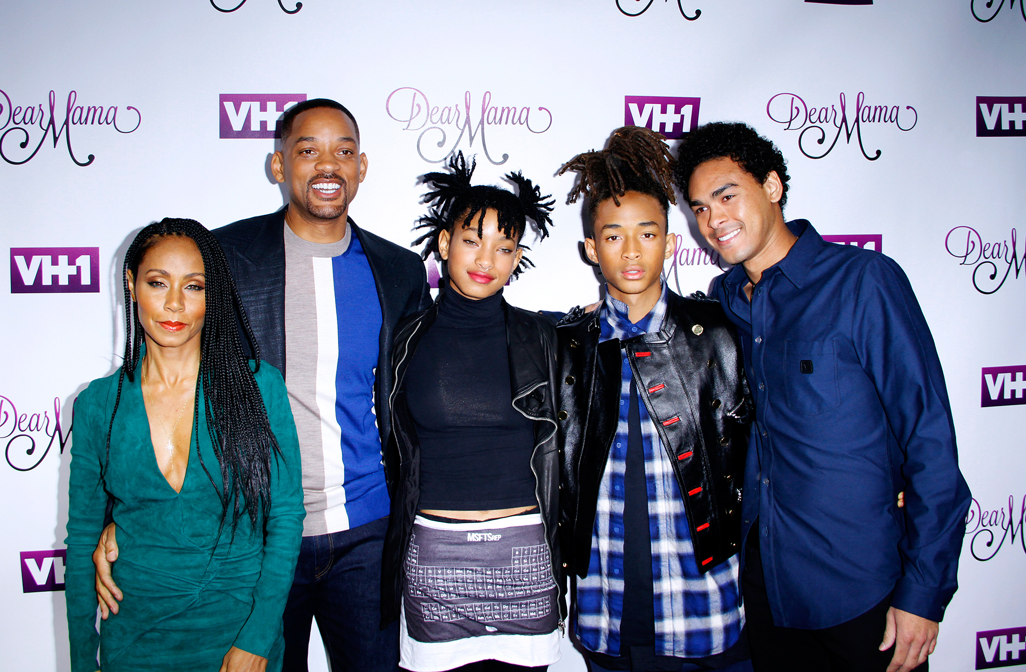Will Smith and family at the VH1 Awards