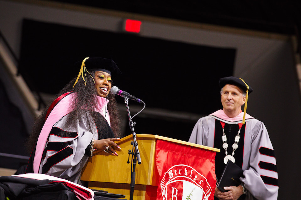 Missy Elliot speaks to Berklee students